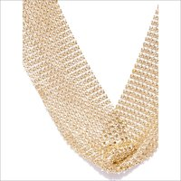 Necklaces - Meshed Choker Gold