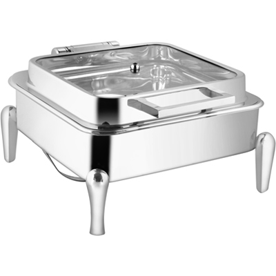 Square Full Glass Chafer With Neo Leg