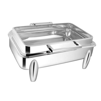 Rectangular Full Glass Chafer With Curved Leg