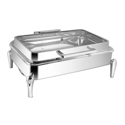 Rectangular Full Glass Chafer With Neo Leg