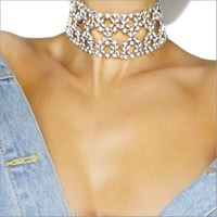 Necklaces - Abida Choker Silver