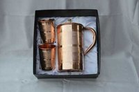 Copper Jug Set with Glass