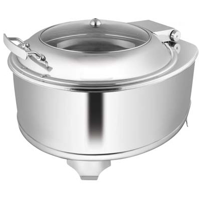 Round Glass Lid Chafer With Fuel Frame