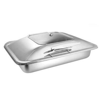 Rectangular Sq. Glass Lid Chafer