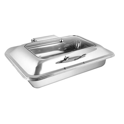 Rectangular Rect. Glass Lid Chafer