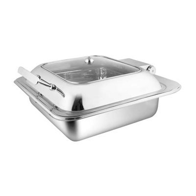 Square Glass Lid Chafer