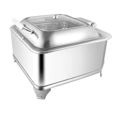 Square Glass Lid Chafer With Fuel Frame