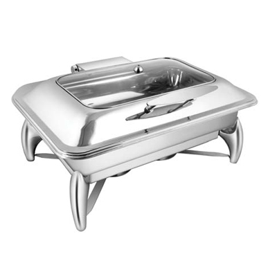Rectangular Rect. Glass Lid Chafer With Smart Leg