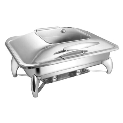 Rectangular Sq. Glass Lid Chafer With Smart Legs