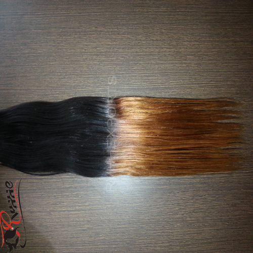 Ombre With Golden Blond Color Straight Hair Extension