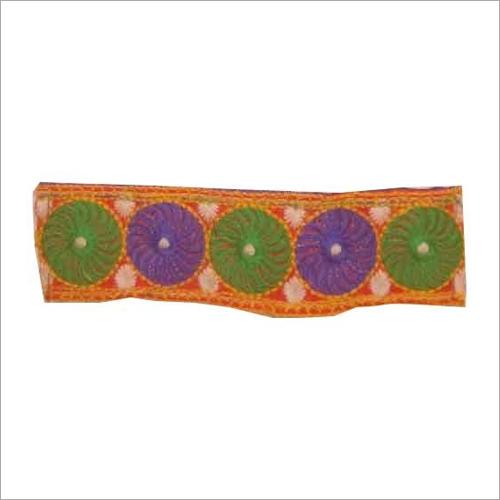 Multi Color Embroidered Lace