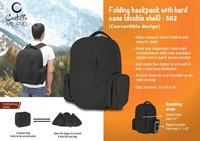 Folding Backpack with Hard Case (Double Shell)