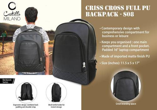 Pu Backpack