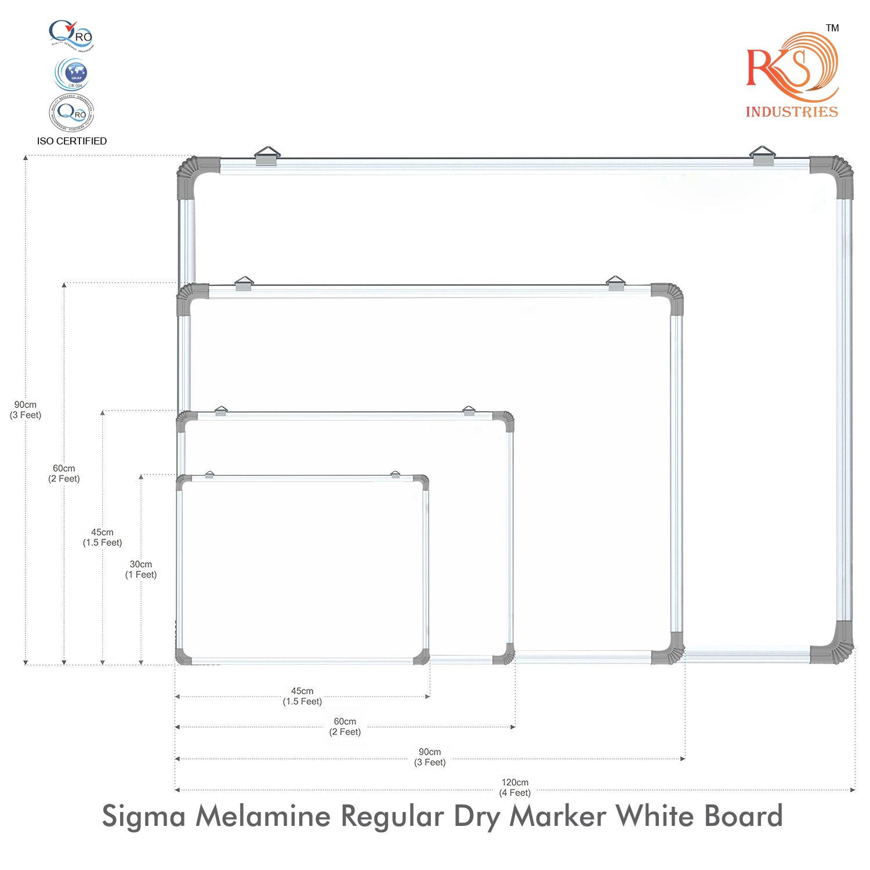 Non Magnetic economic White Marker Board