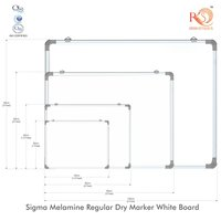 Non Magnetic economic White Marker Board