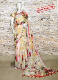 Ladies Linen Sarees