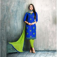 Fancy Embroidered Cotton Suit