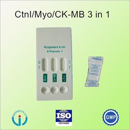 Cardiac Markers Combo (cTnl/Myo/CK-MB) Rapid Test
