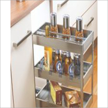 Satin Silent Bottle Pull Out Shelves
