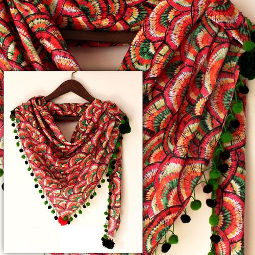 Digital Fancy Printed Scarf Fabric