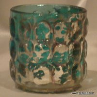DECORATED SILVER CANDLE HOLDER
