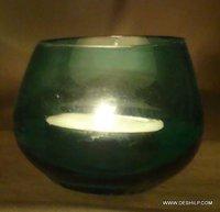 LIGHT GREEN T-LIGHT CANDLE HOLDER