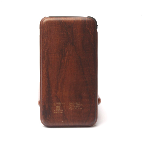 10000mha C Type Wooden Power Bank