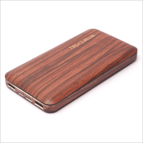 3 Input Wooden Power Bank