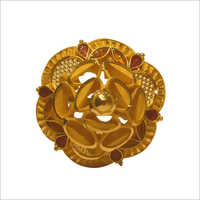 Ladies Flower Shape Gold Ring