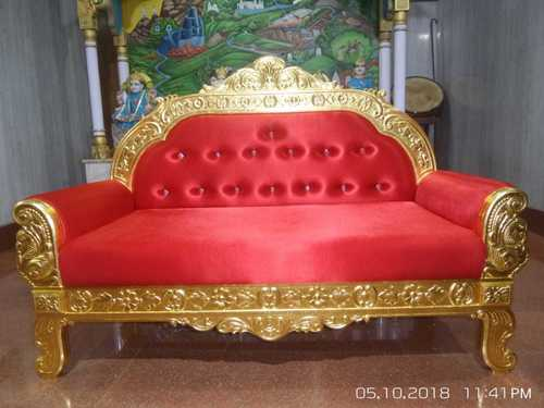 Royal Gold Plated Red Sofa