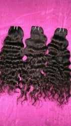 Natural Curly Machine Weft Raw Hair