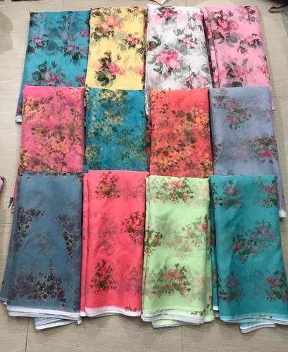 Multicolored Designer Digital Printed Fabric