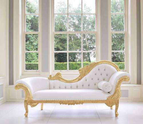 golden  white lounger