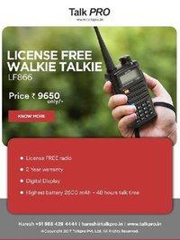 Kenwood License free Walkie Talkie Radio