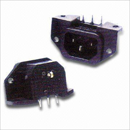 AC Power Socket with Rating of 15A250V AC; IEC 320 C14 Standard