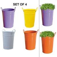 Metal Bucket Planter