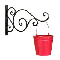 Pail Bucket Galvanized Metal Hanging Planter