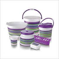 Strip Bucket 7 Pcs Bathroom Set