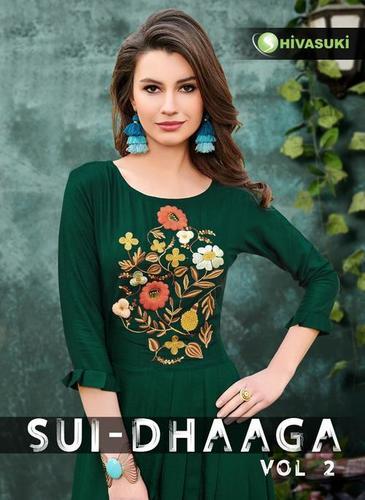 Shivasuki Looks Long Designer Rayon Kurtis