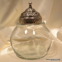 GLASS JAR AND CONTAINERS WITH METAL LID