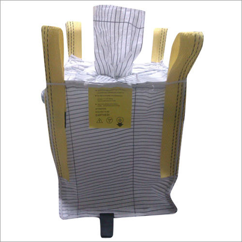 Fibc Woven Bag with filling and discharge spout.