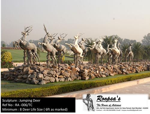 Jumping Deer sculpture