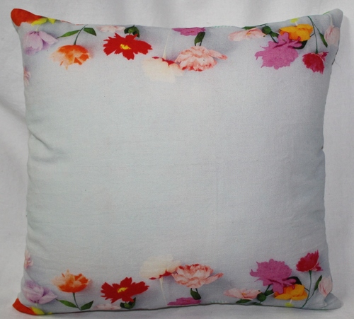 Multicolor Flower Print Cushion Cover