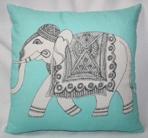 Elephant Print Cushion Cover