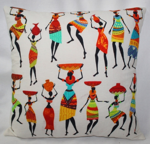 Illustration Print Cushion Cover