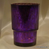 Blue Candle Holder Glass Tealight Candle Black Metal