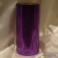 PURPLE COLOR SILVER GLASS FLOWER VASE