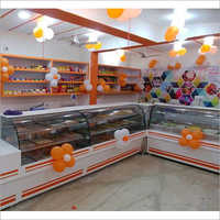 glass Refrigerated Display Counter