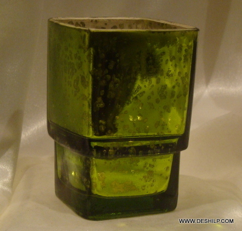 T LIGHT COLORFUL GLASS CANDLE HOLDER