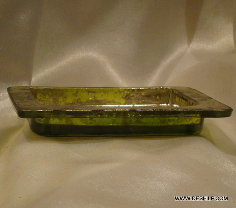 PARROT COLOR SILVER GLASS PLATES